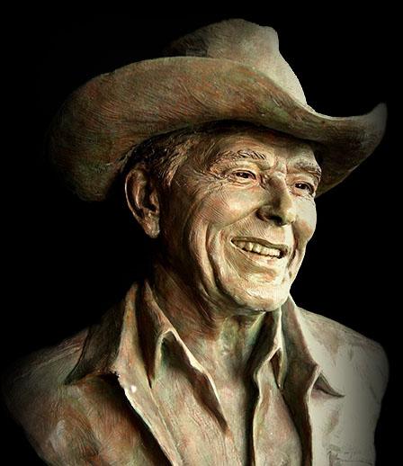 Ronald Reagan in his Stetson
